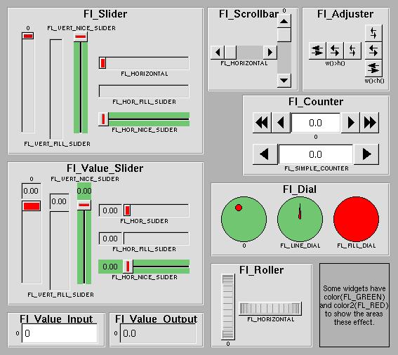 Fltk 135 Common Widgets And Attributes